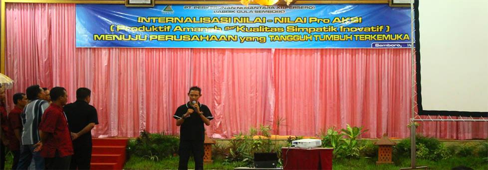 PG Semboro: Internalisasi corporate culture – OUTBOUND DI MALANG SINA SINU INDONESIA